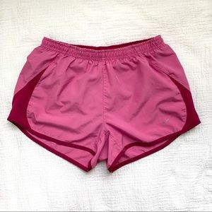 Nike Pink Running Shorts Lined Size Small